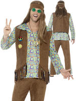 Men's 60s Hippie Costume - Large