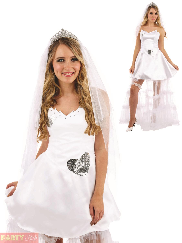Ladies Bride Costume Adults Wedding Hen Night Fancy