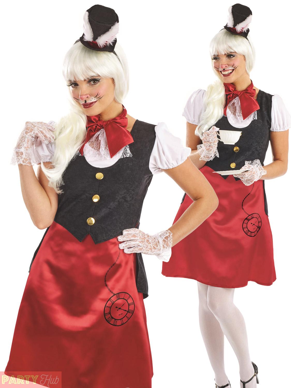 Alice in bunny costume and stockings masturbating 4