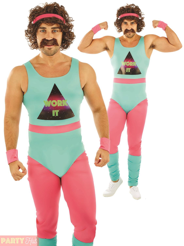 mens 80s fitness instructor costume 90s mr motivator
