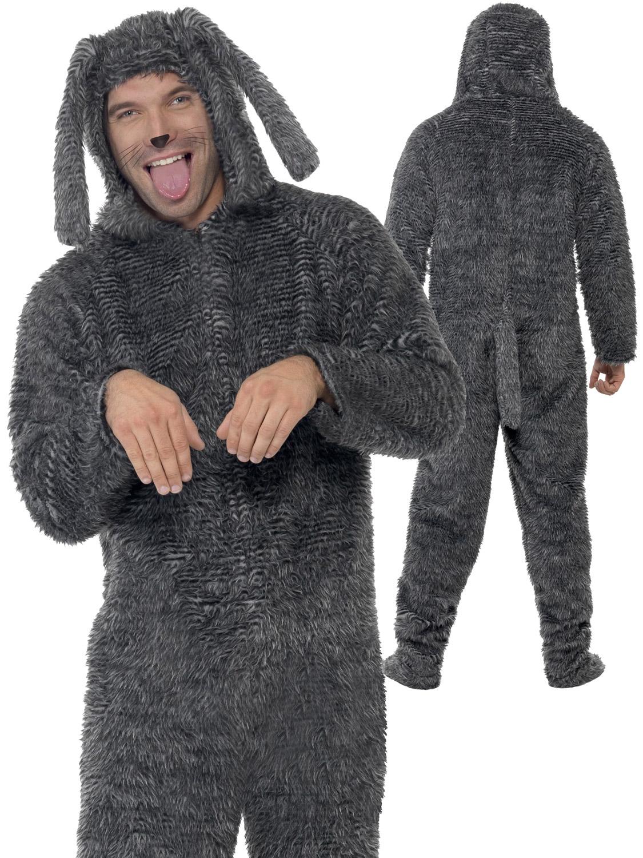 Dog Masks For Adults: Adult Fluffy Dog Costume Mens Ladies Animal Fancy Dress