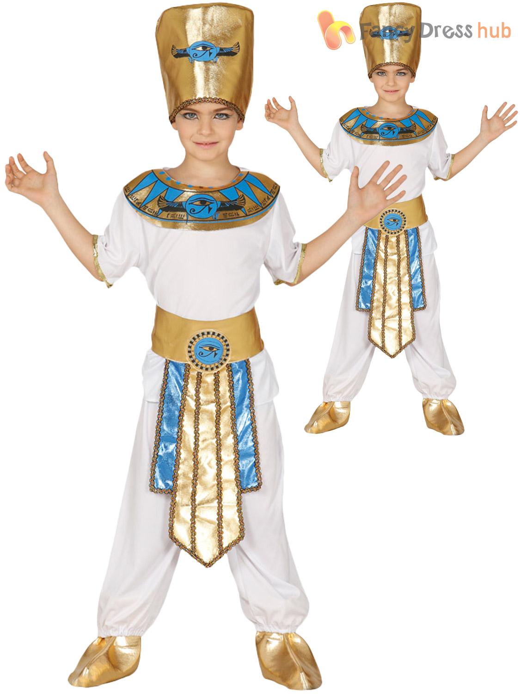 Boys Egyptian Pharaoh Costume Child King Fancy Dress ...