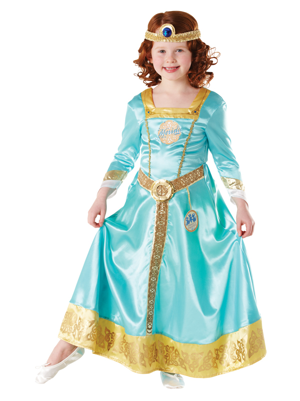 Merida-Brave-Costume-Girls-Disney-Princess-Kids-Fancy-  sc 1 st  eBay & Merida Brave Costume Girls Disney Princess Kids Fancy Dress Costume ...