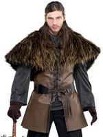 Mens Furry Shoulder Cape