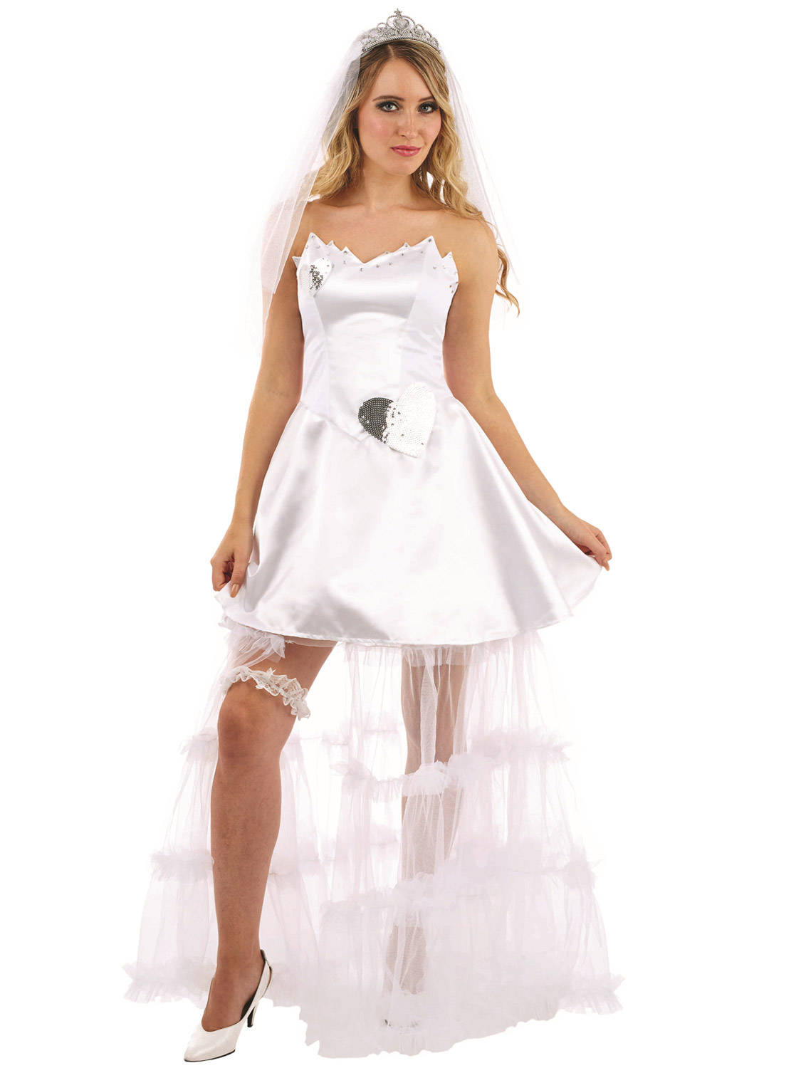 Ladies Bride Costume Adults Wedding Hen Night Fancy Dress Womens Party Outfit