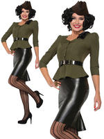 Ladies 1940s Missile Millie Costume