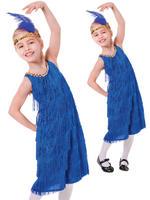 Girl's Blue Flapper Costume