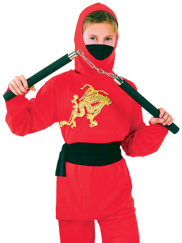 Boyu0026#39;s Red Ninja Costume | All Children | Fancy Dress Hub