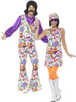 Adults 60s Groovy Hippie Costume