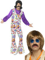 Adults 60s Groovy Hippie Costume & Kit