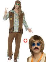 Men's 60s Hippie Costume & Kit - X-Large
