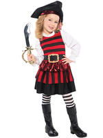 Girls Little Lass Pirate Costume