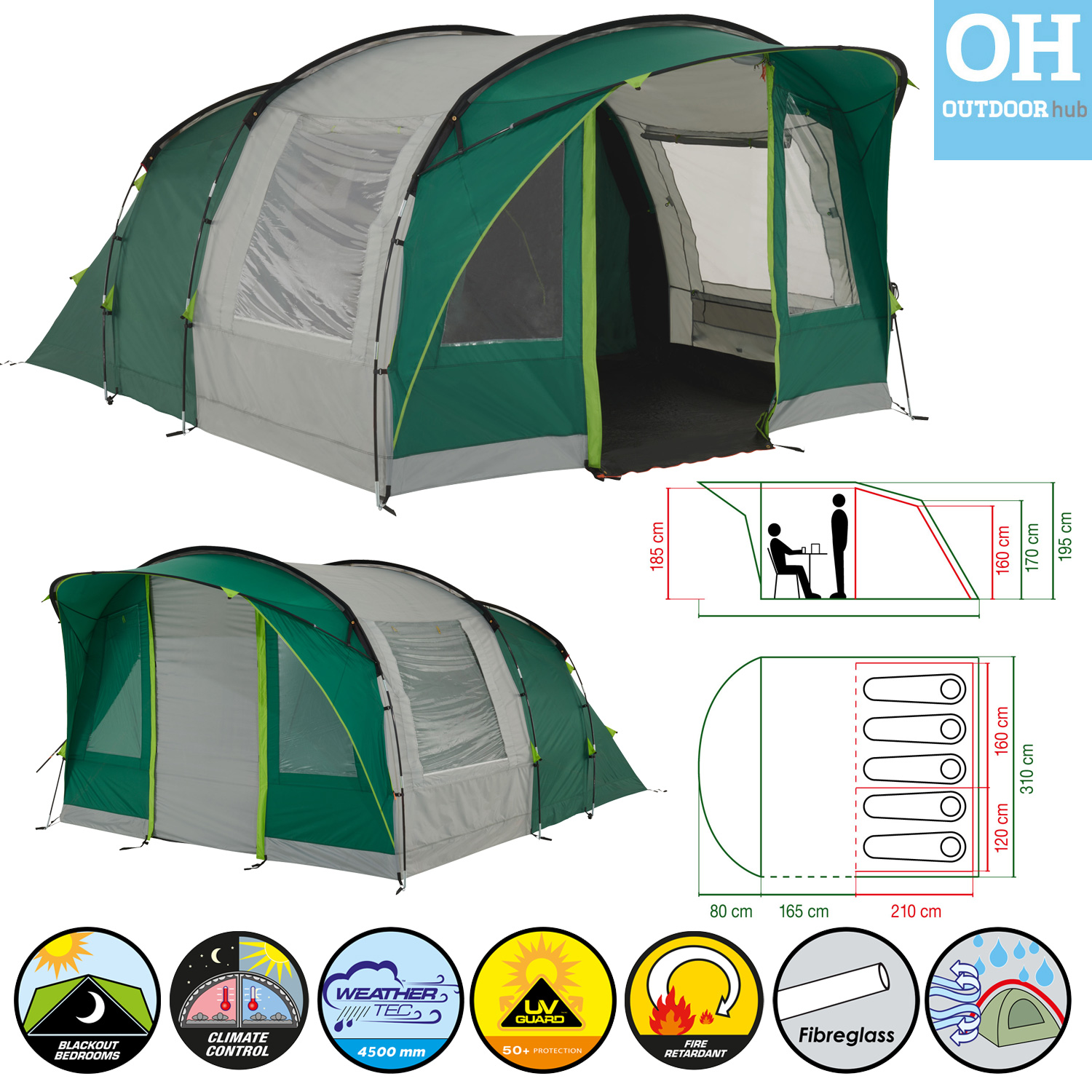 Coleman-Rocky-Mountain-Tent-5-Plus-Person-5-  sc 1 st  eBay & Coleman Rocky Mountain Tent 5 Plus Person 5 Man Tunnel Camping XXL ...