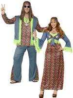 Adults Curves Hippie Costume