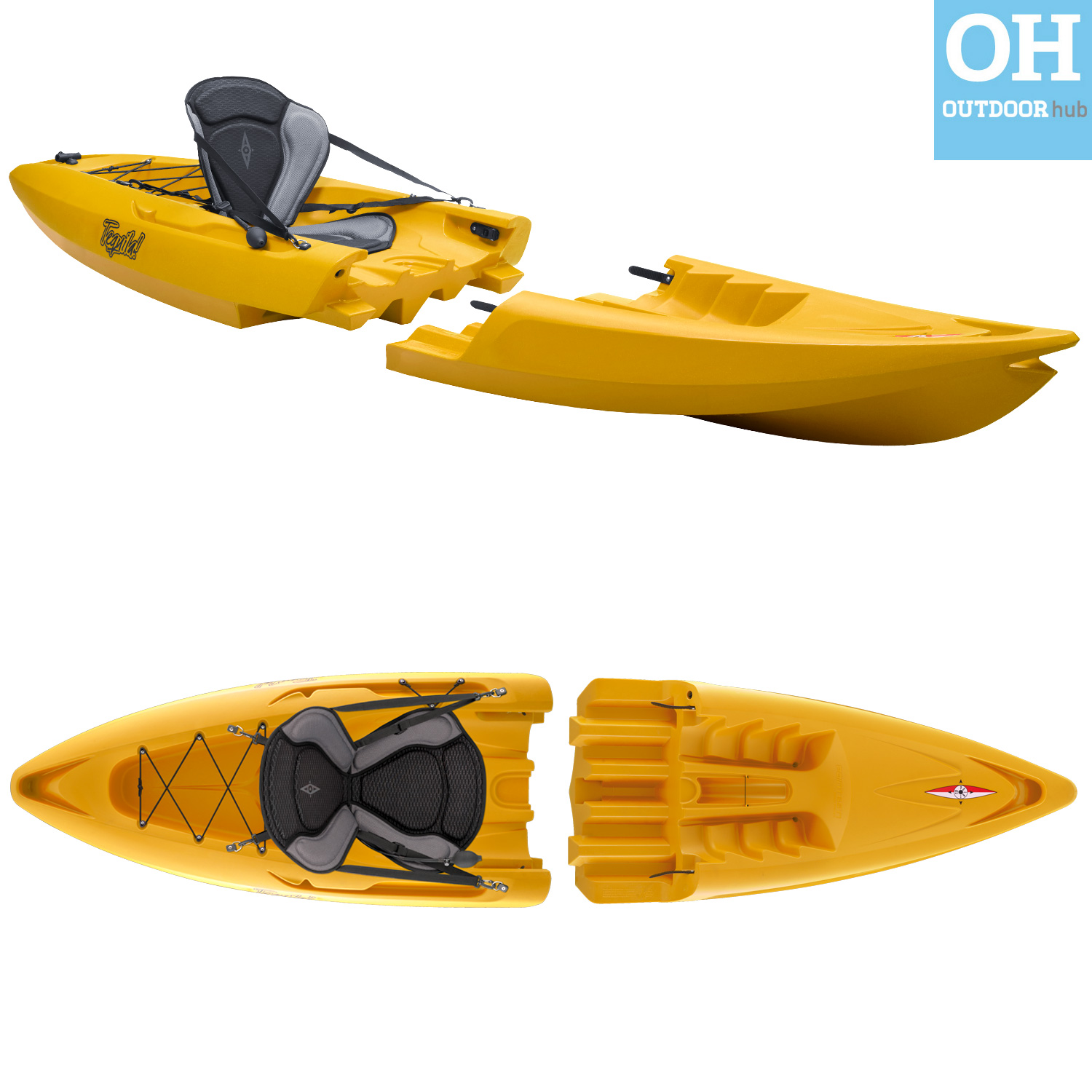 Point 65 tequila gtx modular kayak single 2 piece canoe for Sea fishing kayak
