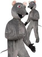 Adults Rat Big Head Costume - Standard