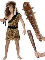 Men's Caveman Costume & Club