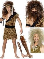 Men's Caveman Costume, Wig & Club