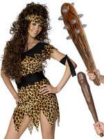 Ladies Cavewoman Costume & Club
