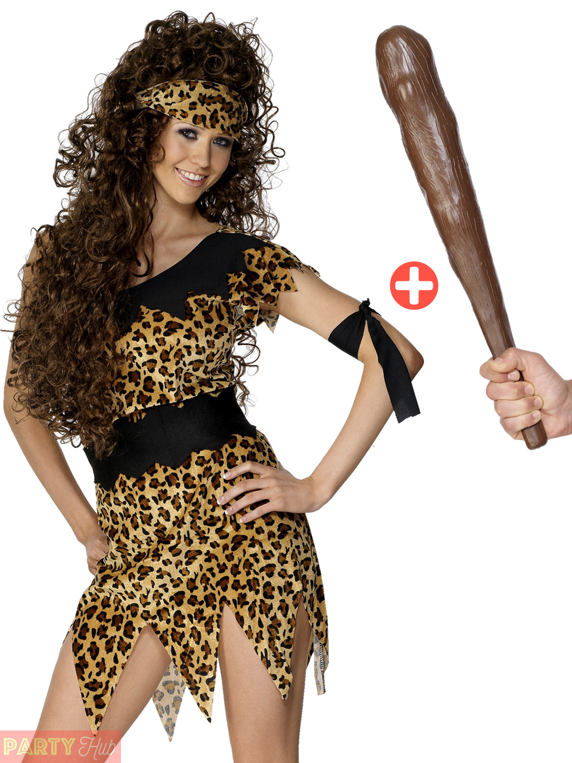 Ladies Cavewoman Costume Club Adults Cave Girl Fancy Dress Womens Outfit