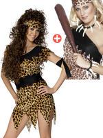 Ladies Cavewoman Costume & Voodoo Set