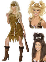 Ladies Cavewoman Costume & Wig