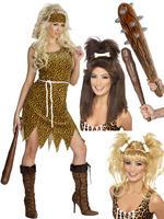 Ladies Cavewoman Costume, Club & Wig