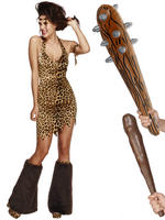 Ladies Fever Cave Woman Costume & Club