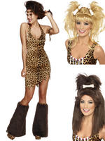 Ladies Fever Cave Woman Costume & Wig