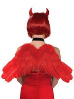 Ladies Feather Devil Wings