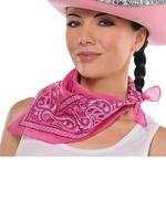 Adults Cowgirl Pink Bandana