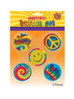 Adults 60s Hippie Badges