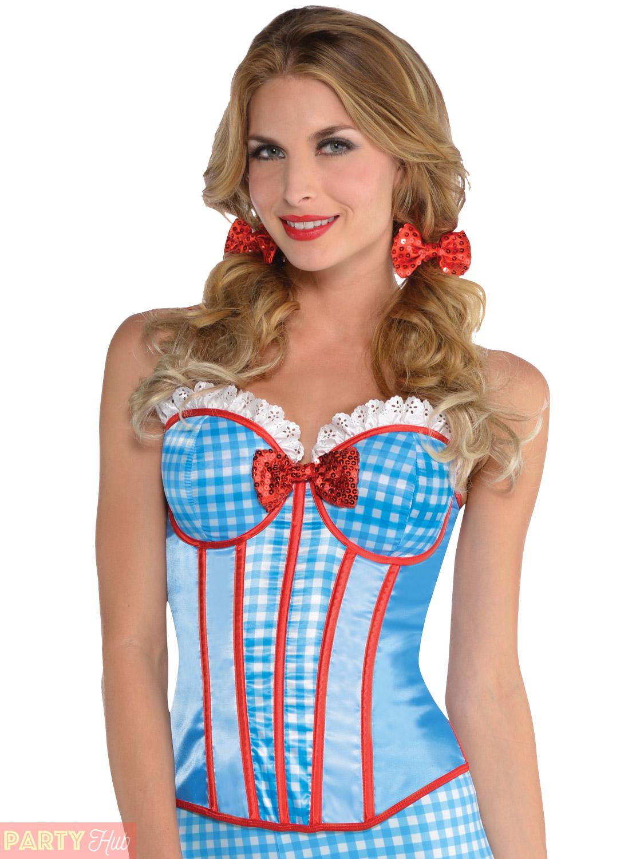 Mesdames Dorothy Accessoires Costume Conte De Fées Kansas Cutie Fancy Dress Outfit