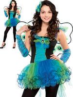Girl's Teen Peacock Diva Costume