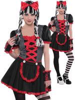 Girl's Teen Goth Doll Costume