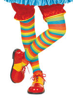 Adults Clown Striped Tights