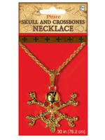 Adults Pirate Skull & Crossbones Necklace