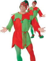 Adults Elf Costume Mens Ladies Santas Helper Fancy Dress Christmas Xmas Outfit