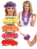 Mens Ladies Hawaiian Garland Headband Lei Clip Adults Fancy Dress Accessories