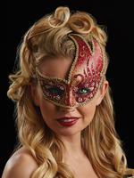 Red & Gold Renata Eye Mask