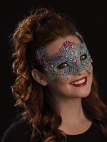 Blue, Silver & Purple Rosa Eye Mask