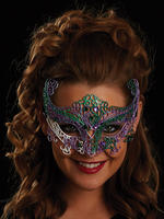 Purple, Green & White Rosa Eye Mask