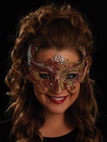 Red, Gold & Silver Rosa Eye Mask
