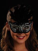 Black & Silver Serena Eye Mask