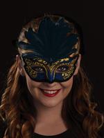 Black, Blue & Gold Serena Eye Mask