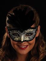 Black, White & Silver Serena Eye Mask