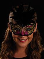 Pink, Black & Gold Serena Eye Mask