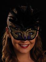 Purple, Black & Gold Serena Eye Mask