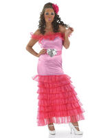 Ladies Pink Gypsy Bridesmaid Costume