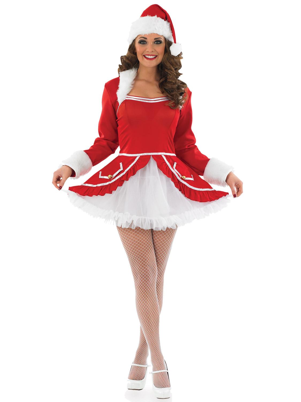 Ladies santa baby costume womens mrs claus christmas xmas